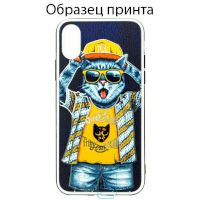 Чехол Fashion Mix Apple iPhone X, iPhone XS Cat
