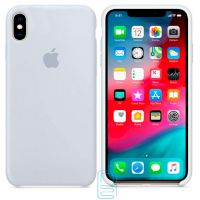 Чехол Silicone Case Apple iPhone XS Max серо-голубой 26