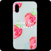 Чехол силиконовый Summer Apple iPhone X, XS Strawberry