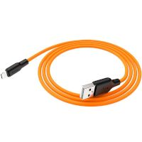 USB Cable Hoco X21 Silicone Lightning Black/Orange 1m