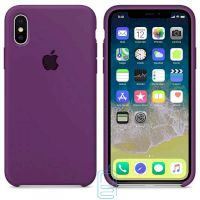 Чехол Silicone Case Apple iPhone X, XS фиолетовый 43