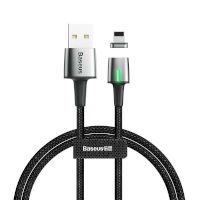 USB Cable Baseus Zinc Fabric Magnetic Lightning (CALXC-B01) Black 2m