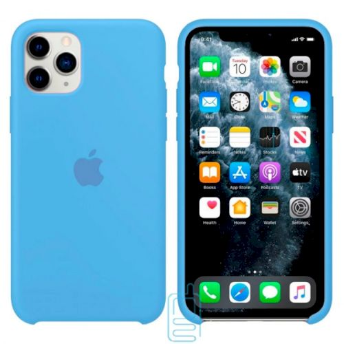 Чехол Silicone Case Apple iPhone 11 Pro Max голубой 16