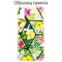 Чехол Mix Flowers Apple iPhone XS Max light green