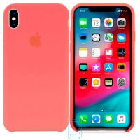 Чехол Silicone Case Apple iPhone XS Max малиновый 30