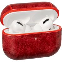 Leather AirPods Pro Case Red