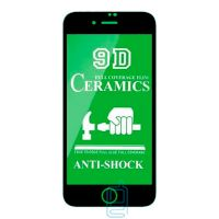 Защитное стекло Ceramics 9D Full Glue Apple iPhone SE 2020 black тех.пакет