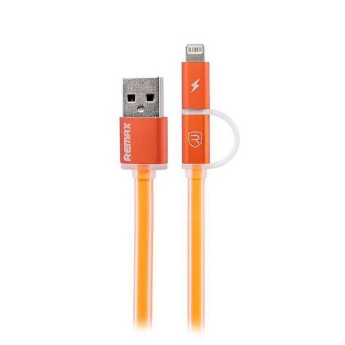 Кабель 2-in-1 Remax Aurora RC-020t Micro-USB+Lightning Orange