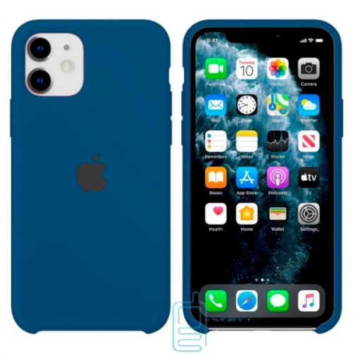 Чехол Silicone Case Apple iPhone 11 темно-синий 36
