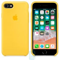 Чехол Silicone Case Original iPhone 6, 6S № 4 (Yellow) (N04)