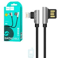 USB кабель Hoco U42 ″Exquisite steel″ Apple Lightning 1.2m черный