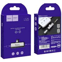 Adapter Hoco LS25 2in1 Lightning -> Lightning + 3.5mm Silver