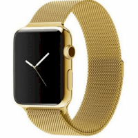 Ремешок Milanese Loop (Миланская петля) для Apple Watch 38mm/40mm Gold