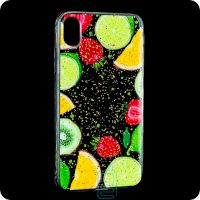Чехол накладка Glue Case Apple iPhone X, XS Fruits