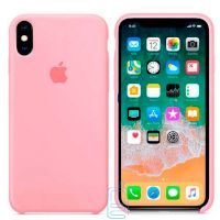 Чехол Silicone Case Apple iPhone XS Max розовый 06