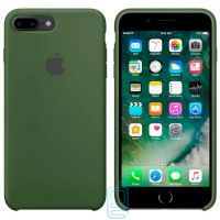 Чехол Silicone Case Original iPhone 7 Plus, 8 Plus №48 (Pine forest green) (N45)
