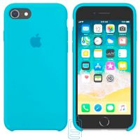 Чехол Silicone Case Apple iPhone 7, 8, SE 2020 голубой 16