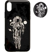 Space Silicon Case for Samsung A107 (A10s) №2 Black