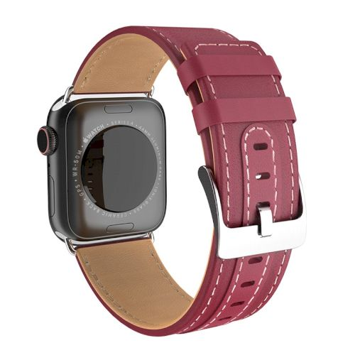 Kожаный ремешок Hoco WB04 Duke series для Apple Watch Series 1/2/3/4 (38/40mm) Wine Red