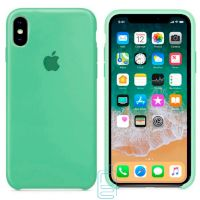 Чехол Silicone Case Apple iPhone X, XS салатовый 01