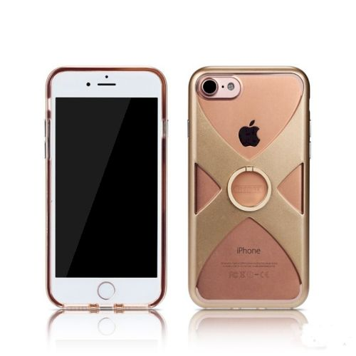Чехол-накладка Remax X Ring Holder для Apple iPhone 7/8 Gold