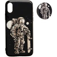 Space Silicon Case for iPhone 11 №3 Black
