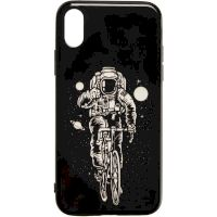 Space Silicon Case for iPhone X/XS №2 Black
