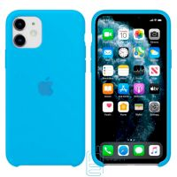 Чехол Silicone Case Apple iPhone 11 голубой 16