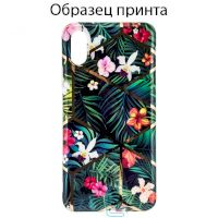 Чехол Mix Flowers Apple iPhone XS Max dark green