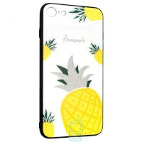 Чехол накладка Glass Case Apple iPhone 7, 8, SE 2020 Pineapple