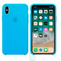 Чехол Silicone Case Apple iPhone XS Max голубой 16